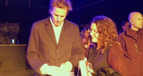 John Taylor durante un momento del book signing. foto: Raffaella Piermarini
